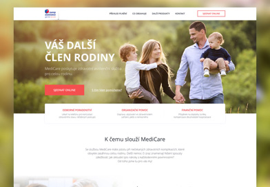 Europ Assistance Medicare microsite on Dribbble